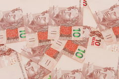 Бразильская валюта 10 Стоковое Фото