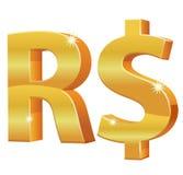 Бразильская реальная валюта 3D Стоковое фото RF