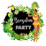 бразильская самба танцоров Бесплатная Иллюстрация