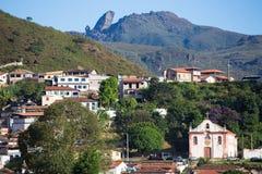 Бразильские дома на холме Стоковые Изображения