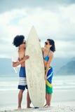 Бразильские пары пляжа Стоковое фото RF