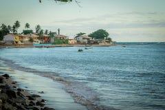 Бразильские пляжи-Pontal делают Coruripe, Alagoas Стоковое фото RF