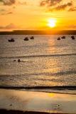 Бразильские пляжи-Pontal делают Coruripe, Alagoas Стоковые Фото