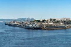 Бразильские сосуды военно-морского флота стоковая фотография rf