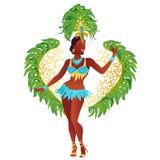 Бразильский вектор танцора самбы Иллюстрация штока