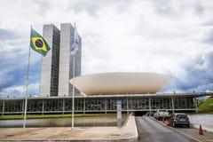 Бразильский национальный конгресс в Brasilia, Бразилии стоковые фото