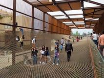 Бразильский павильон на ЭКСПО, экспозиции мира Стоковые Фото