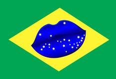 Бразильский поцелуй губ бесплатная иллюстрация