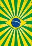 Бразильский плакат солнечных лучей. Стоковые Фото