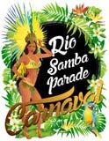 Бразильский танцор самбы Иллюстрация вектора