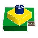 Бразильский торт иллюстрация вектора