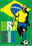 Бразильский футболист Стоковое фото RF