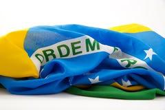 Бразильский флаг 3-ее Стоковые Фото