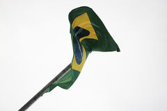 бразильский флаг Стоковая Фотография