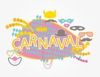 Бразильское carnaval иллюстрация вектора