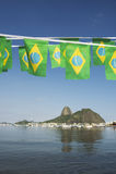 Бразильянин сигнализирует гору Рио-де-Жанейро Бразилию Sugarloaf Стоковые Изображения