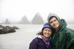 Брайан и Венди на олимпийском побережье Стоковые Изображения RF