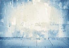 Брайн, голубая текстура бетонной стены grunge с Стоковые Фотографии RF