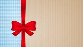 Брайн и голубой картон с красным смычком иллюстрация штока