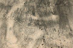 Брайн и серая влажная текстура песка на пляже Стоковая Фотография