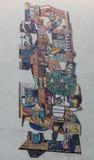 Брайн и серая картина абстрактного искусства стоковые изображения