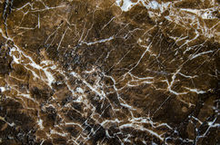 Брайн и черная мраморная текстура, детальная структура мрамора (высокого разрешения), абстрактной предпосылки текстуры мрамора Стоковые Фотографии RF