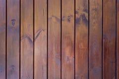 Брайн покрасил деревянную стену Стоковая Фотография RF