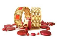 браслеты золотистые Стоковое Фото