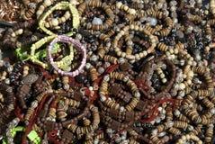 браслеты шарика деревянные Стоковая Фотография