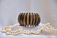 браслет деревянный Стоковая Фотография