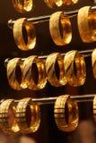 Браслеты и bangles золота Стоковые Изображения RF