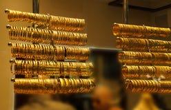 Браслеты и bangles золота Стоковое Изображение RF