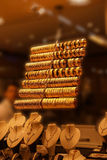 Браслеты и bangles золота Стоковая Фотография RF
