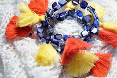 Браслеты моды на шарфе шерстей Стоковая Фотография RF