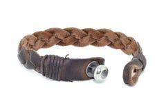 Заплетенный кожаный браслет Стоковые Фото