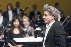 БРАТИСЛАВА, СЛОВАКИЯ - 4-ое декабря: Джулиан Kovatchev на концерте на 4-ом из декабря 2013 в Братиславе Стоковое Изображение