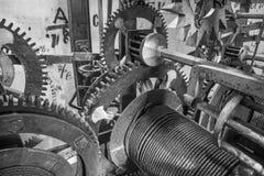 Братислава - деталь старой час-работы от башн-часов на соборе St Martins Стоковое Фото