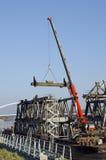 Братислава Stary большинств мост demounting Стоковое Изображение