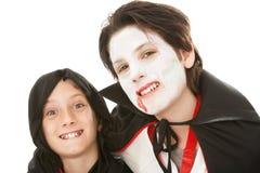 Братья на Halloween Стоковое Изображение RF