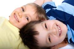 братья счастливые Стоковые Фотографии RF