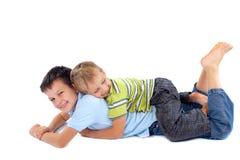 братья счастливые Стоковая Фотография