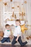 2 брать в украшениях рождества золота Стоковые Фотографии RF