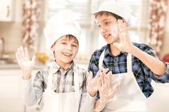 2 брать в шляпах кашевара Стоковая Фотография RF