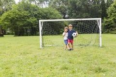 2 брать имея потеху играя с шариком Стоковая Фотография