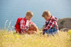 2 брать идя в горы Стоковые Фото