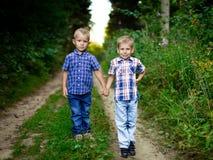 2 брать обнимая один другого внешний Стоковые Изображения RF
