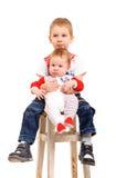 2 брать сидя на табуретке Стоковая Фотография RF
