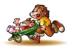 Брат и сестра счастливы Бесплатная Иллюстрация