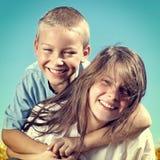 Брат и сестра Стоковая Фотография RF