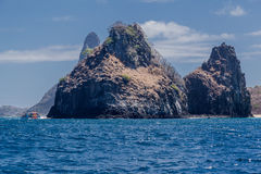 2 Брат Фернандо de Noronha Остров Стоковое фото RF